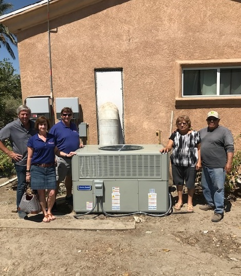 Hyde's Celebration of Giving Free HVAC System Winner from Thermal CA photo