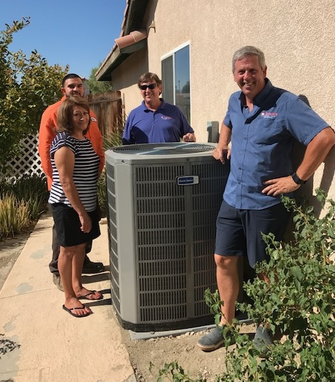 Hyde's Celebration of Giving Free HVAC System Winner from Indio CA photo