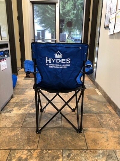 Hyde's Employee Recognition 2020 Chair Back