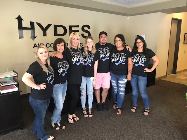 2017 Thyroid Cancer Awareness photo Team Hyde